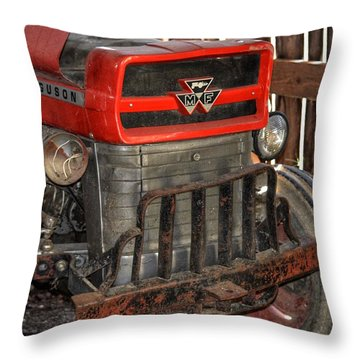 Tractor Grill  Throw Pillow