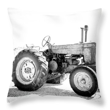 Tractor Throw Pillow by Silvia Bruno