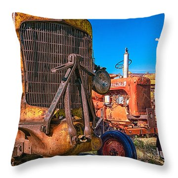 Throw Pillow featuring the photograph Tractor Supply by Daniel George