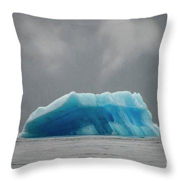 Iceberg - Tracy Arm Fjord Throw Pillow