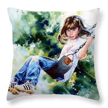 Tracy Throw Pillow by Hanne Lore Koehler