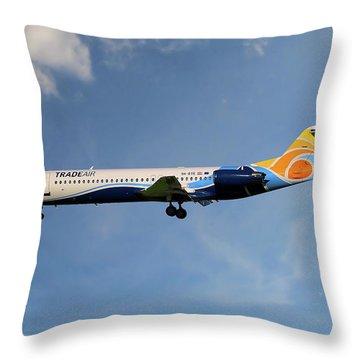 Trade Air Fokker 100 Throw Pillow