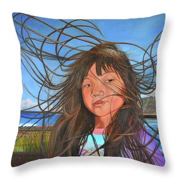 Trade Wind Day Throw Pillow