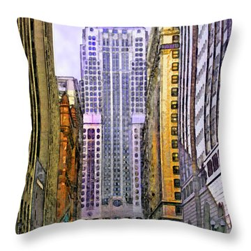 Trading Places Throw Pillow by John Beck