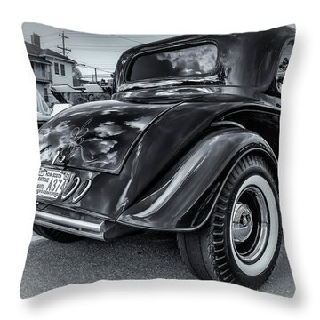 Tradional Hot Rod Throw Pillow by Ken Morris