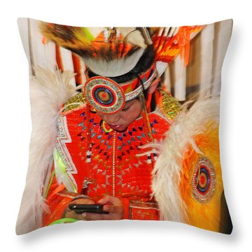 Tradition Meets Technology Throw Pillow