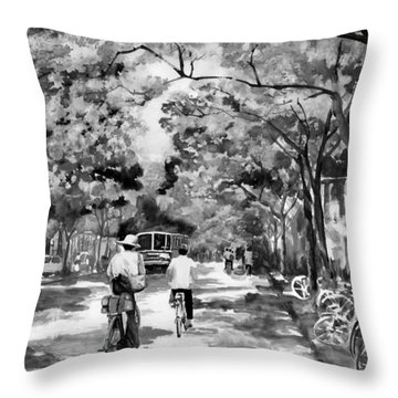 Tradition Vs Modernism Throw Pillow by Eileen  Fong