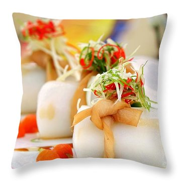 Traditional Chinese Hakka Rice Noodle Roll Throw Pillow