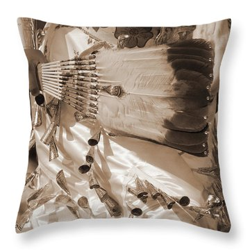 Throw Pillow featuring the photograph Traditional Dancer In Sepia by Heidi Hermes