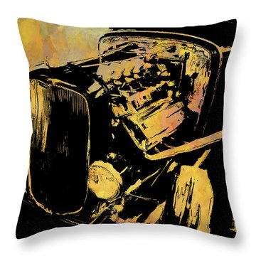 Traditional Hemi Rust Throw Pillow