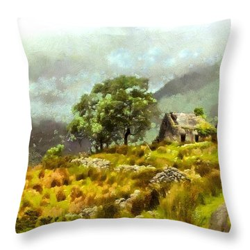 Traditional Ireland Throw Pillow