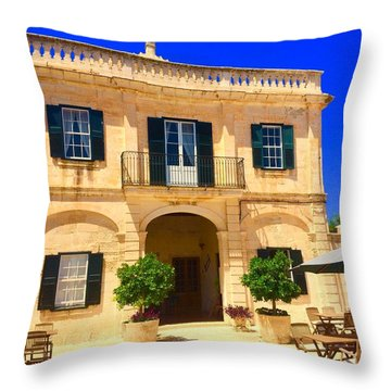 Traditional Menorcan Farmhouse Throw Pillow