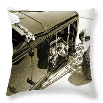 Traditional Roadster Bw Throw Pillow