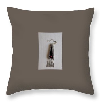 Traditional Yemenite Women Necklace Throw Pillow by Nurit Tzubery