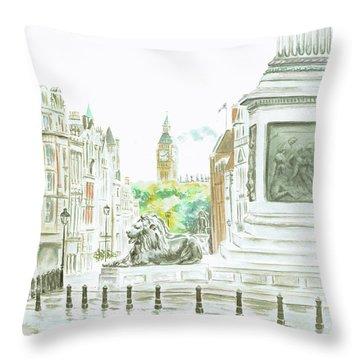 Trafalgar Square Throw Pillow