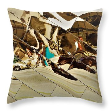 Traffic Along Euclid, Cleveland Throw Pillow