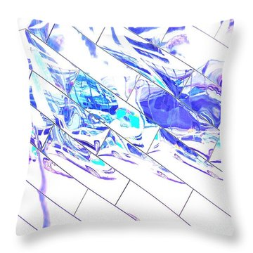 Traffic Along Euclid, Cleveland1 Throw Pillow