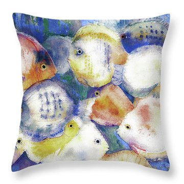 Traffic Jam Throw Pillow by Arline Wagner