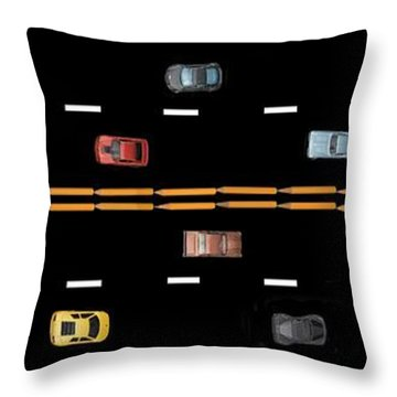Throw Pillow featuring the photograph Traffic - Panorama by Nikolyn McDonald