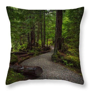 Trail Around Ward Lake Ketchikan Alaska Throw Pillow