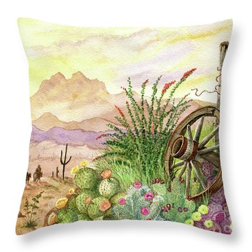 Trail At Sunrise Throw Pillow