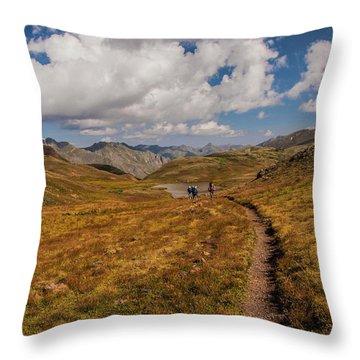 Trail Dancing Throw Pillow