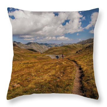 Trail Dancing Throw Pillow