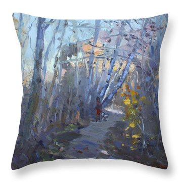 Trail In Silver Creek Valley Throw Pillow