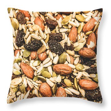 Throw Pillow featuring the photograph Trail Mix Background by Jorgo Photography - Wall Art Gallery