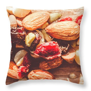 Trail Mix High-energy Snack Food Background Throw Pillow