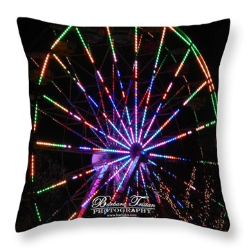 Trail Of Lights #7427 Throw Pillow by Barbara Tristan