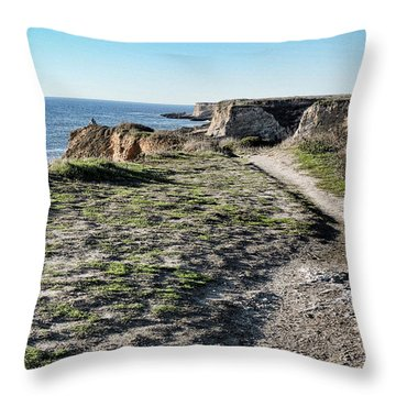 Trail On The Cliffs Throw Pillow