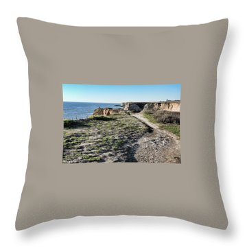 Trail On The Cliffs Throw Pillow
