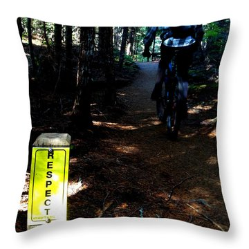 Trail Respect Throw Pillow