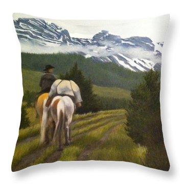 Trail Ride Throw Pillow