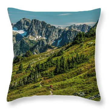 Trail Roaming Throw Pillow
