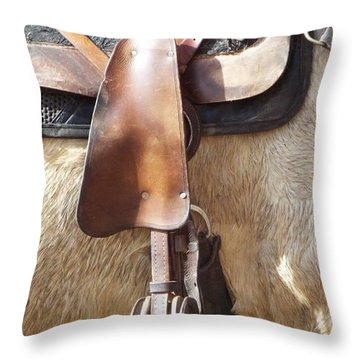 Trail Tack Throw Pillow
