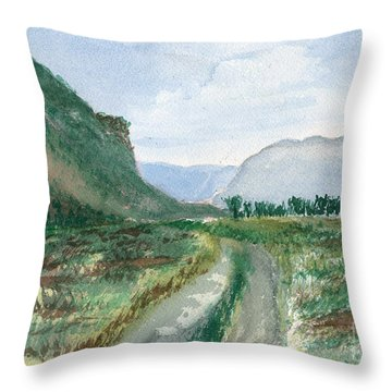 Trail To Canada Throw Pillow