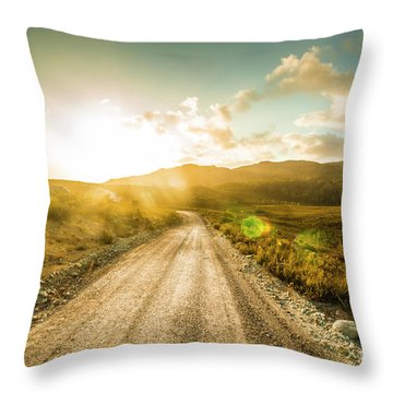 Trail To Trial Throw Pillow