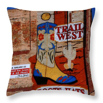 Trail West Mural Throw Pillow by Susanne Van Hulst