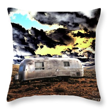 Throw Pillow featuring the photograph Trailer by Jim and Emily Bush