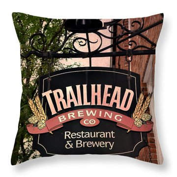 Trailhead Brewing Company Throw Pillow