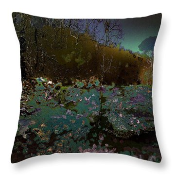 Trailing Along Throw Pillow