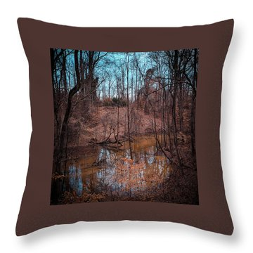 Trailing Creek Throw Pillow