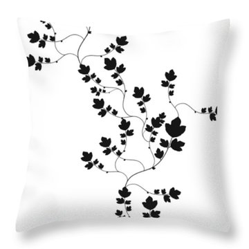 Trailing Leaves Throw Pillow