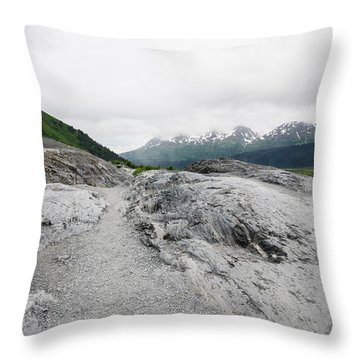 Trails In Alaska Throw Pillow