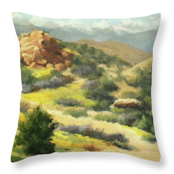 Trails Of Vasquez Canyon Throw Pillow
