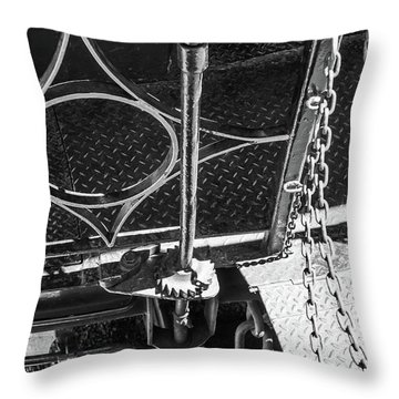 Throw Pillow featuring the photograph Train Car Connections by Colleen Coccia
