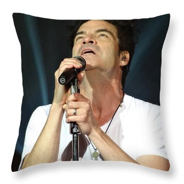 Train's Pat Monahan Throw Pillow by Cindy Manero