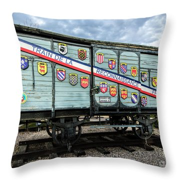 Train De La Reconnaissance Francaise - Ogden - Utah Throw Pillow by Gary Whitton